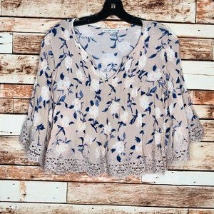Charlotte Russe Pink Floral Blouse Size Small